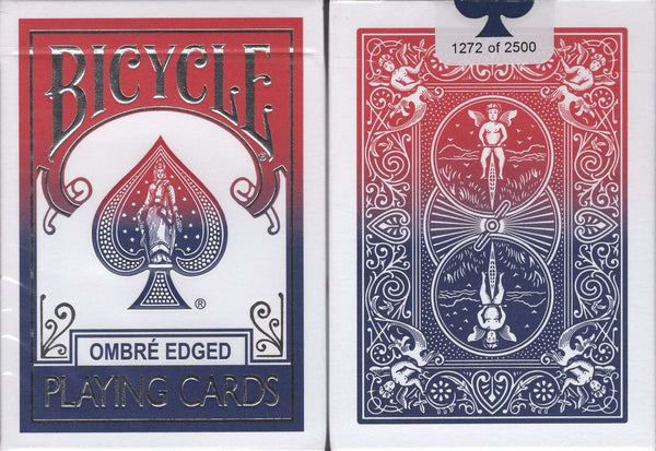 Ombre Edged Bicycle Playing Cards:PlayingCardDecks.com