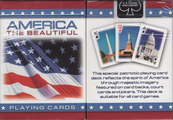 America the Beautiful Playing Cards USPCC - PlayingCardDecks.com