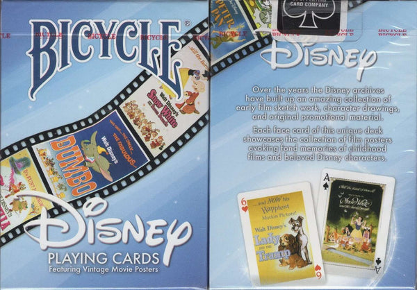 Disney Vintage Movie Posters Bicycle Playing Cards - PlayingCardDecks.com