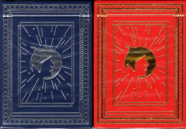 Bomber Collector's 2 Deck Set Blue & Red Playing Cards - PlayingCardDecks.com