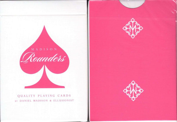 Madison Rounders Pink Playing Cards USPCC