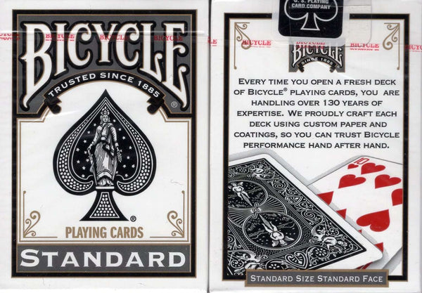 Black Standard Bicycle Playing Cards