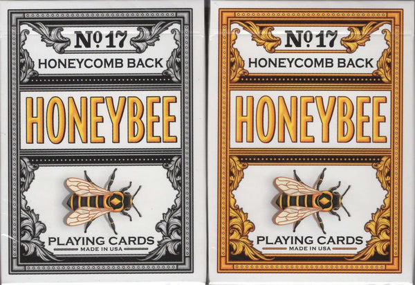 Honeybee V2 Playing Cards USPCC - Black & Yellow