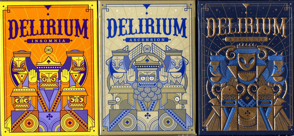 Delirium: The Lost Decks Playing Cards USPCC - Insomnia, Ascension & Absolute - PlayingCardDecks.com