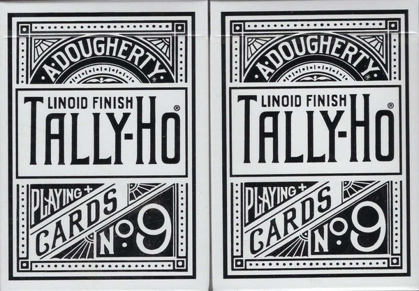 Tally-Ho White Playing Cards - Circle & Fan Back:PlayingCardDecks.com