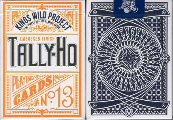 Tally-Ho Kings Wild Blue Playing Cards:PlayingCardDecks.com