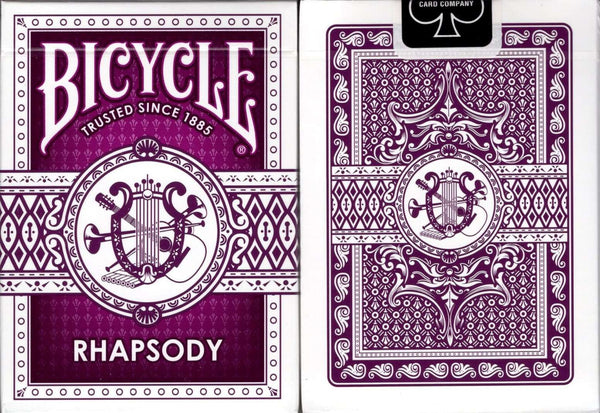 Rhapsody Purple Bicycle Playing Cards:PlayingCardDecks.com