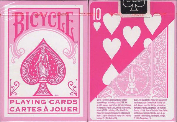 Fashion Pink Bicycle Playing Cards - PlayingCardDecks.com