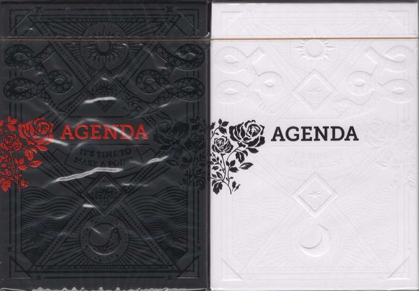 Agenda Playing Cards EPCC - Black & White - PlayingCardDecks.com