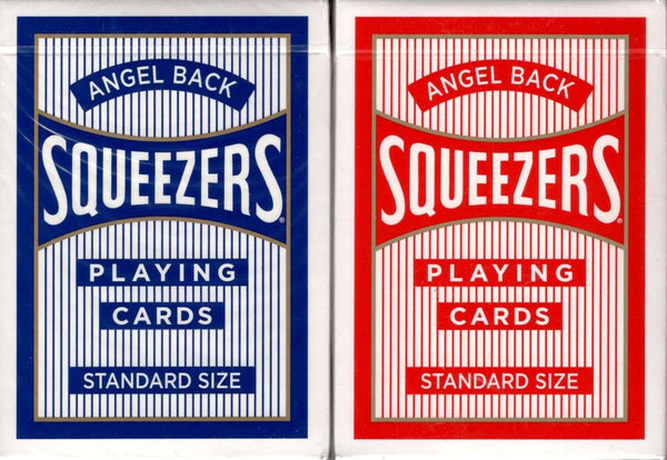 Angel Back Squeezers Playing Cards USPCC - Blue & Red - PlayingCardDecks.com