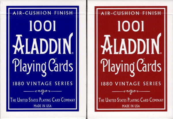 1001 Aladdin Dome Back Playing Cards USPCC - Blue & Red - PlayingCardDecks.com
