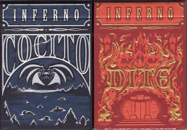 Inferno Playing Cards LPCC - Cocito & Dite:PlayingCardDecks.com