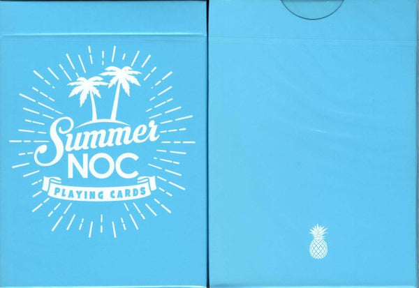 NOC Summer v2 USPCC - Blue, Orange & Pink:Blue:PlayingCardDecks.com