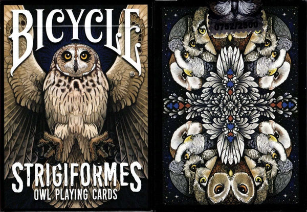 Strigiformes Owl Bicycle Playing Cards