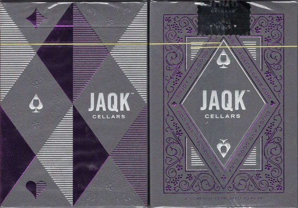 JAQK Cellars Amethyst Playing Cards USPCC tuck case