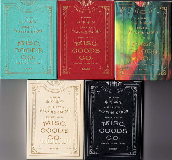Misc. Goods Co. v3 Playing Cards USPCC - 5 Colors:PlayingCardDecks.com