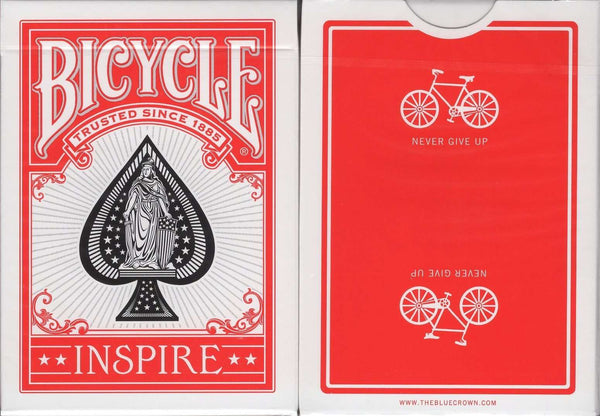 Inspire Red Marked Bicycle Playing Cards:PlayingCardDecks.com
