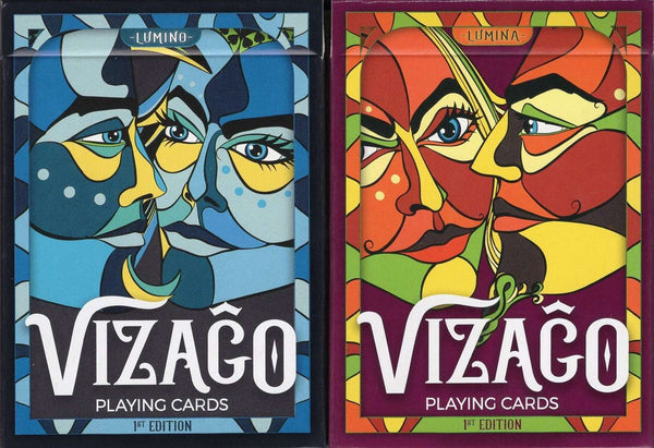Vizago Playing Cards LPCC - Blue & Red