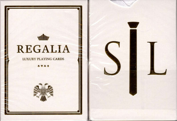 Regalia White Gold Luxury Playing Cards Cartamundi:PlayingCardDecks.com