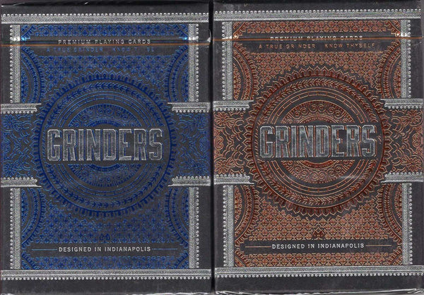Grinders Playing Cards LPCC - Blue & Copper:PlayingCardDecks.com