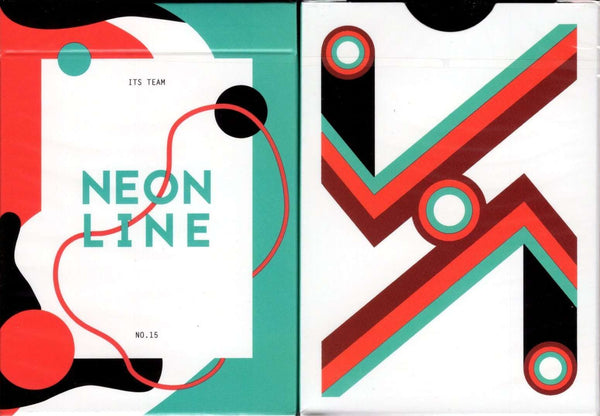 Neon Line Playing Cards Tuck Case
