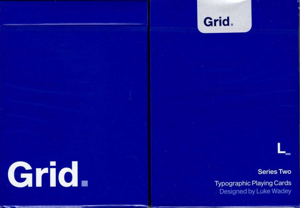 Grid v2 Typographic Playing Cards USPCC Tuck Case