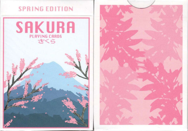 Sakura Spring Playing Cards USPCC Tuck Case