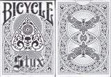 Styx White Bicycle Playing Cards Tuck Case