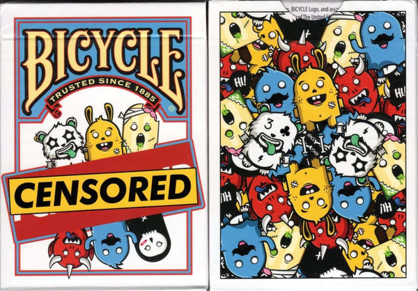 Censored Bicycle Playing Cards Tuck Case