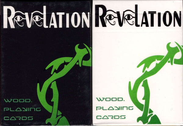 Revelation Wood Element Playing Cards - Black & White