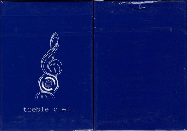 Treble Clef Blue Marked Playing Cards JJPC tuck case