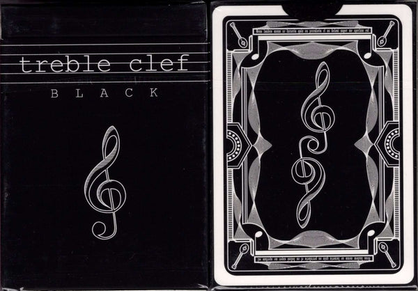 Treble Clef Black Playing Cards JJPC