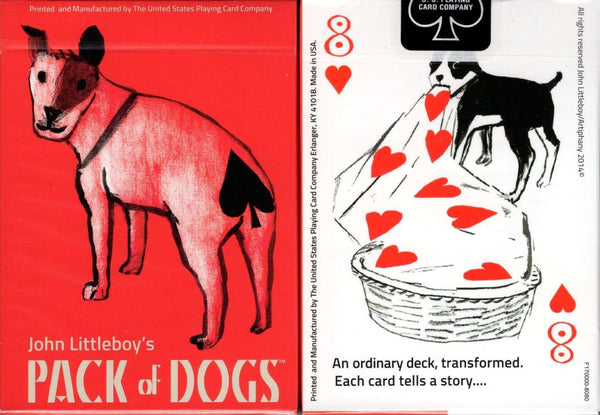 Pack of Dogs Playing Cards USPCC tuck case