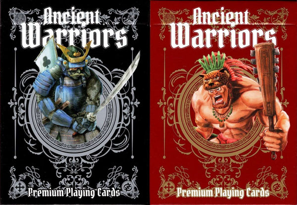 Ancient Warriors Playing Cards USPCC - Red & Black Tuck Boxes