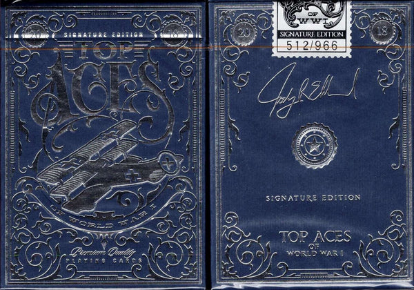Top Aces of WWI Signature Edition Playing Cards LPCC Tuck Boxes