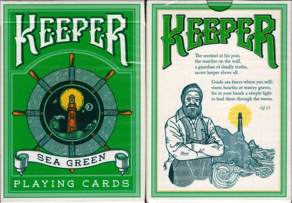 Keepers Sea Green Playing Cards Cartamundi
