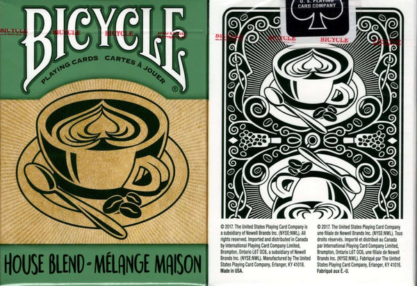 House Blend Green Bicycle Playing Cards tuck box
