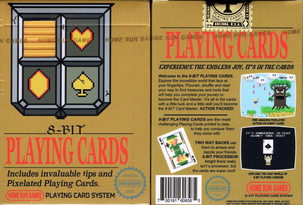 8-Bit Gold Playing Cards tuck box