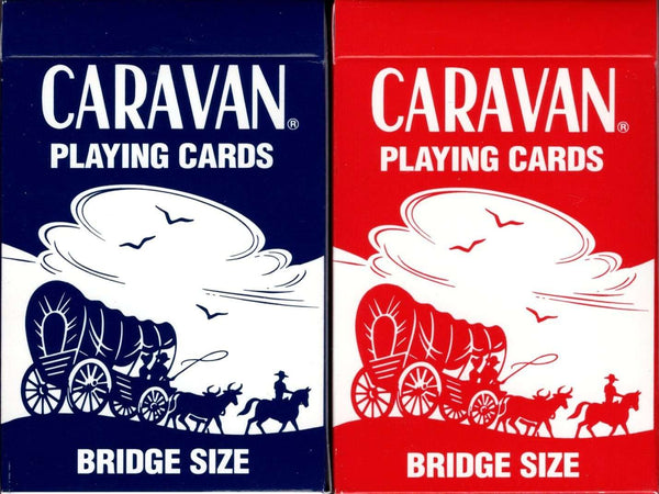 Caravan 2 Deck Set Budget Playing Cards tuck boxes