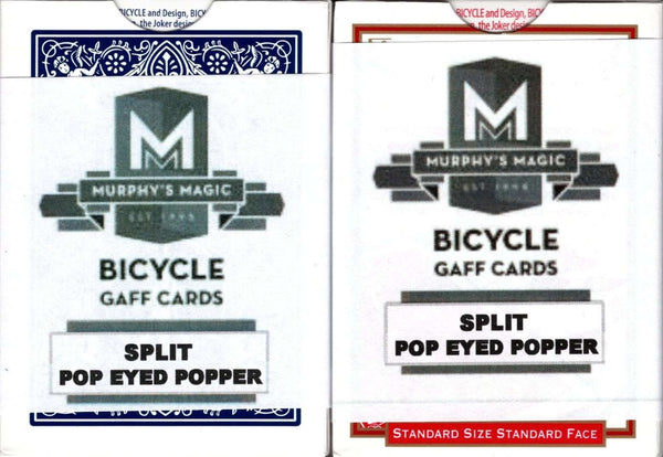 Split Eyed Popper Bicycle Trick Playing Cards Tucks