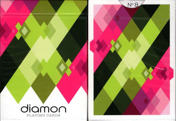 Diamon No 8 Summer Bright Playing Cards USPCC Tuck Case