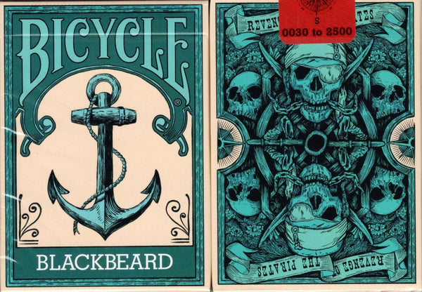 Blackbeard Bicycle Playing Cards tuck case
