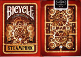 Steampunk Bicycle Playing Cards - Blue & Red: Red