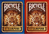 Steampunk Bicycle Playing Cards - Blue & Red