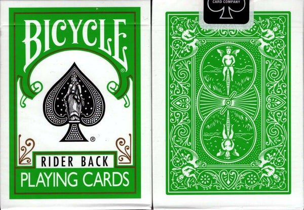 Green Back Bicycle Playing Cards Deck