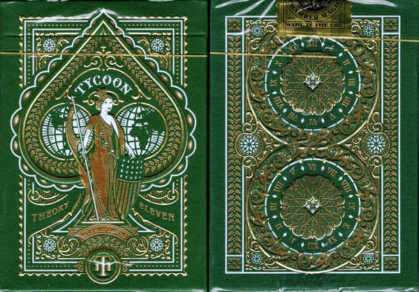 Tycoon Green Playing Cards USPCC