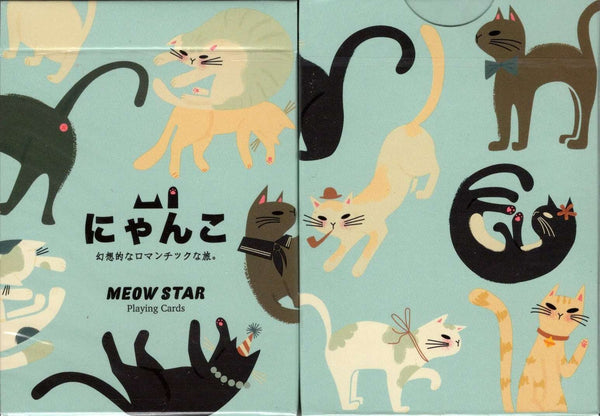 Meow Star Cat Playing Cards USPCC