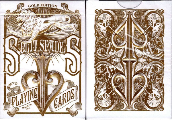 Gold Split Spades David Blaine Playing Cards USPCC