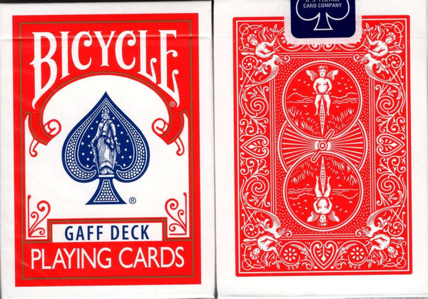Gaff Rider Back Red Bicycle Playing Cards