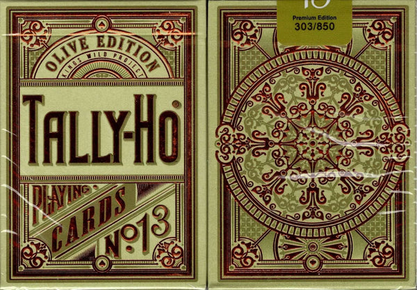 Olive Tally-Ho Limited Edition Playing Cards